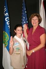 Kaitlyn and GSGCF CEO, Sue Stewart