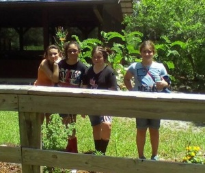 Cadettes from Troop 16 (left to right): Olivia, Emily, Sydney, and Delaney.