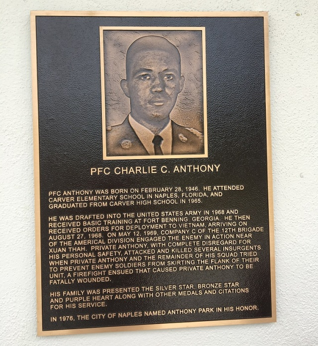 Charlie Anthony plaque crop