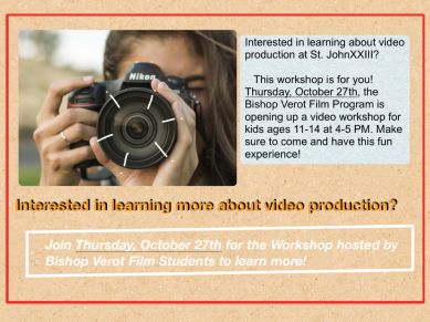 Flyer for video production