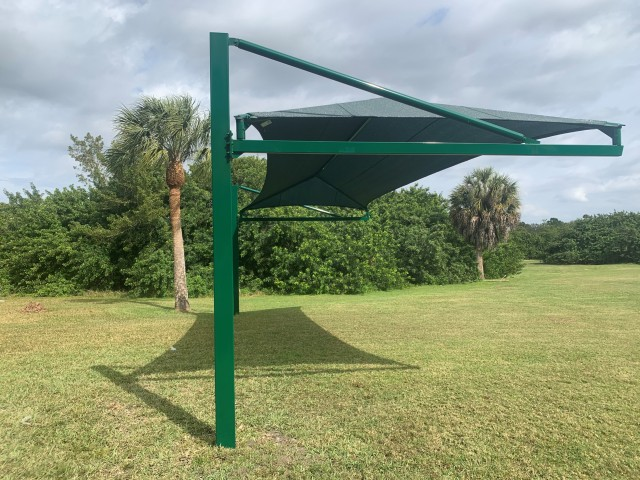 Honi Archery Canopy Shade installation - 1