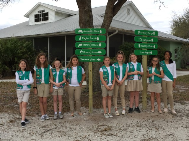 Troop 17 Completed Bronze Project - Honi Hanta Directional Signage